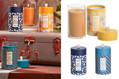Yankee Bundles - Triple pack of limited edition Yankee Candle wanderlust pillars - Save 59%
