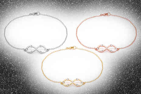 Lily Spencer - Infinity anklet made with crystals from Swarovski choose from three colours - Save 83%
