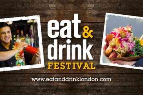 Eat And Drink Festival - Two adult tickets to Eat and Drink Festival on 22 March To 27 May - Save 53%