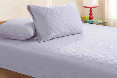 Direct Warehouse - Pack of two zipped quilted pillow protectors - Save 65%