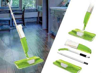 Black Feather - Spray mop with microfibre pads choose from two colours - Save 67%