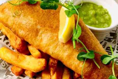 The Slipway - Fish and Chips with Wine or Soft Drink for Two or Four - Save 56%