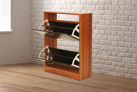 Bells Bay - Two drawer shoe cabinet choose from four colours - Save 57%