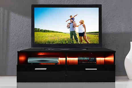 Bells Bay - High gloss TV cabinet with an Led light - Save 71%
