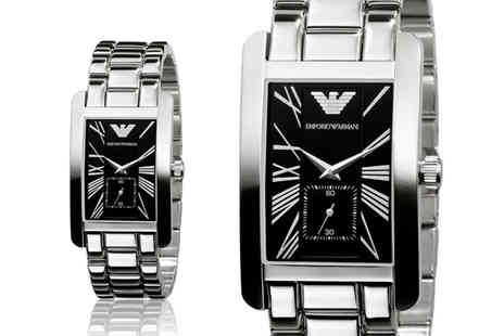 Brand Arena - Stainless steel Emporio Armani AR0156 mens watch - Save 75%