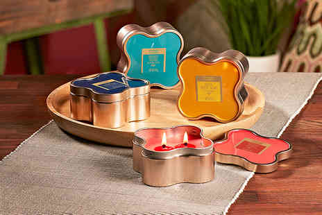 Yankee Bundles - Three Yankee Candle wanderlust clover tin candles - Save 53%