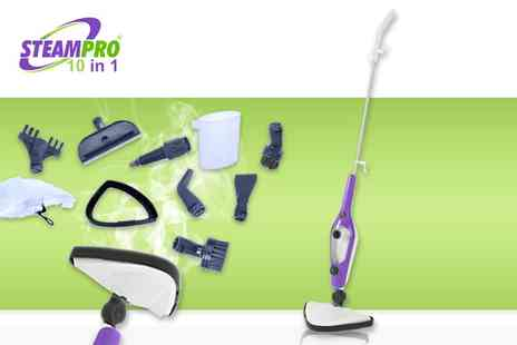 Home Empire - 10 in 1 SteamPro mop - Save 70%