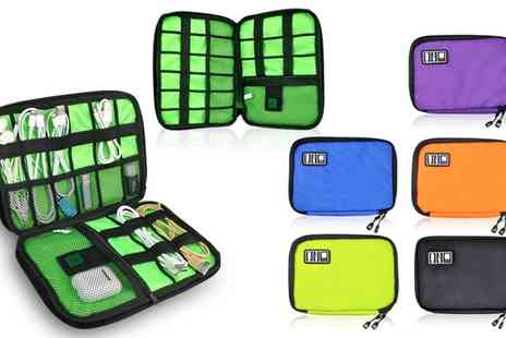 Groupon Goods Global GmbH - Universal Cable and Gadget Travel Organiser Carry Bag - Save 87%