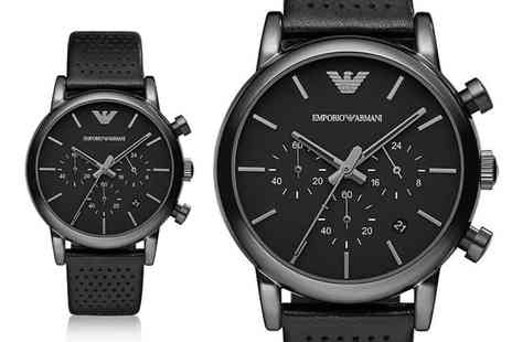 Ticara Watches - Time to check out this deal for an Emporio Armani AR1737 mens chronograph leather watch - Save 52%