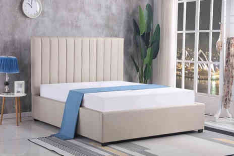 That Mattress - Chenille ottoman storage double bed frame or King bed frame - Save 0%