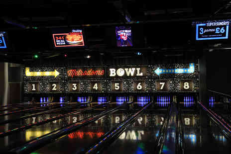 Metrodome Bowl - One game of bowling for up to six people - Save 70%