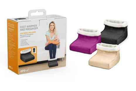 ViVo Technologies - Foot warmer and massager choose from three colours - Save 66%