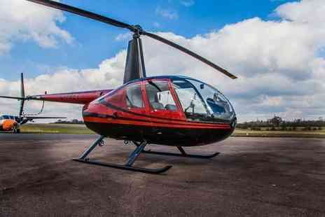 Flying Pig Helicopters - Romantic helicopter flying experience for two with bubbly and chocolates with Flying Pig Helicopters - Save 30%