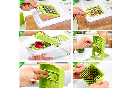 Buy Something - 11 in 1 Fruit and Veg Slicer with Food Container - Save 53%