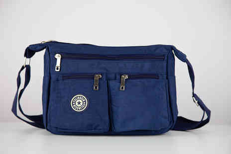Deals Direct - Lightweight Cascabelle waterproof Dacron bag choose between black, navy, pink or purple - Save 55%