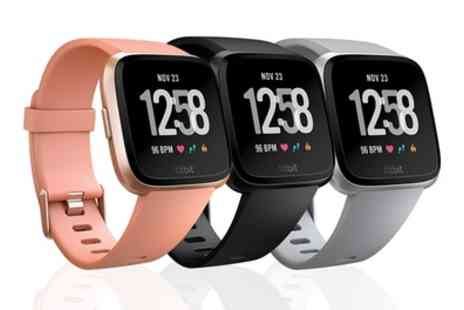 Groupon Goods Global GmbH - Fitbit Versa Health and Fitness Sports Watch in Choice of Colour With Free Delivery - Save 25%