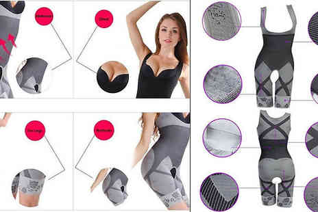 Domo Secret - Full Length Body Shaper Suit Available in Three Sizes And Colours - Save 75%