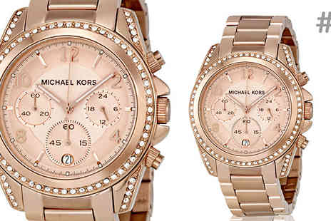 AW Watches - Michael Kors Chronograph Watch for Women Choose Four Models - Save 61%