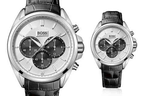 Best Watch Company - Hugo Boss HB1512880 Driver black leather mens chronograph watch - Save 61%
