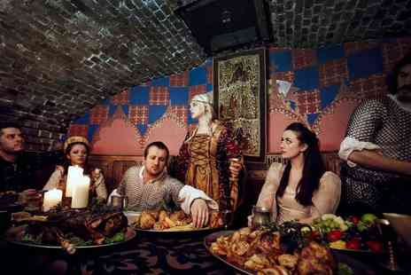 The Medieval Banquet - Four course medieval dinner experience for two people including ale and wine during the meal - Save 31%