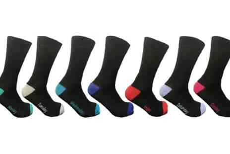 Groupon Goods Global GmbH - 600W Chicago Mens Monday to Sunday Socks Seven Pack - Save 0%