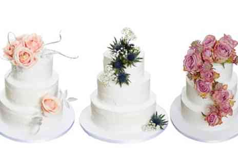 3D Cakes - 90 or 40 Portion Blank Canvas Wedding Cake with Vanilla Frosting or Iced Finish - Save 49%