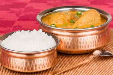The Pakora Bar - Punjabi Curry with Rice for Two or Four - Save 44%