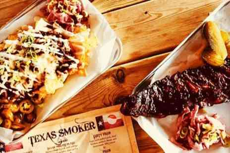 Texas Smoker - American Meal with Side for Two or Four - Save 46%