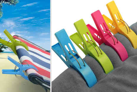 Bellap - Pack of eight large beach towel pegs - Save 72%