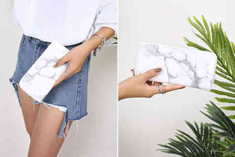 Buy Something - Lady marble zipper wallet choose between three colours - Save 65%