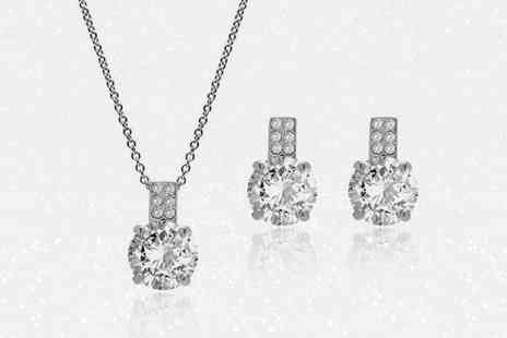 Lily Spencer London - Pendant and earrings set made with crystals from Swarovski choose from two colours - Save 73%