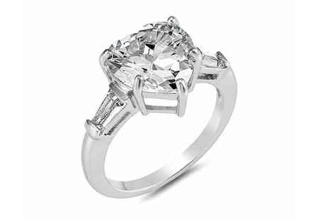 Gemnations - Crystal angel heart ring - Save 89%