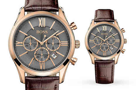 Best Watch Company - Hugo Boss Ambassador leather mens watch - Save 56%