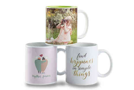 Colorland - Pair of personalised photo mugs - Save 64%