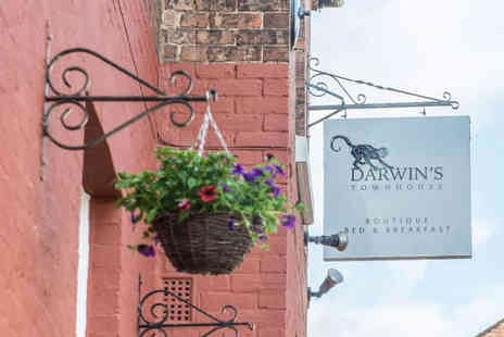 Darwins Townhouse - Luxury overnight stay for two people with breakfast and a three course dinner each - Save 54%