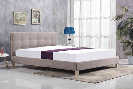 That Mattress - Double buttoned mink fabric bed frame - Save 86%