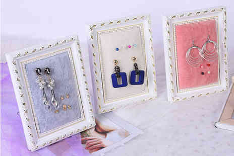 Buy Something - Framed jewellery display choose from three colours - Save 40%