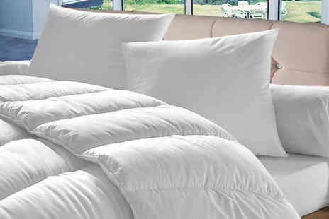 Direct Warehouse - Single anti allergy 10.5 tog duvet with four pillows - Save 74%