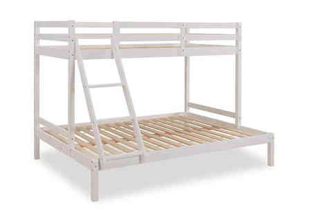 UK Furniture Zone - White triple bunk bed - Save 64%
