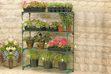 Eurotrade - Four tier garden shelving unit - Save 82%