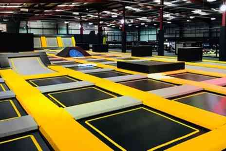 Go Air Trampoline Park - One Hour Trampoline Park Access for Up to Four - Save 44%