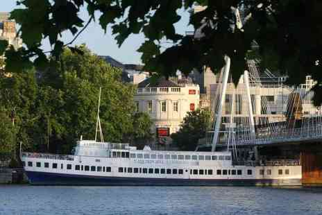 R S Hispaniola - Afternoon tea for two people with bottomless Prosecco aboard the R.S. Hispaniola and a River Red Rover boat cruise ticket - Save 41%