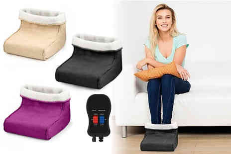 Black Feather - Foot warmer and massager choose between three colours - Save 70%