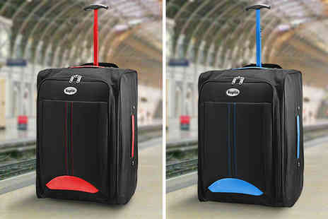 Black Feather - Keplin lightweight cabin hand luggage choose between eight colours - Save 75%