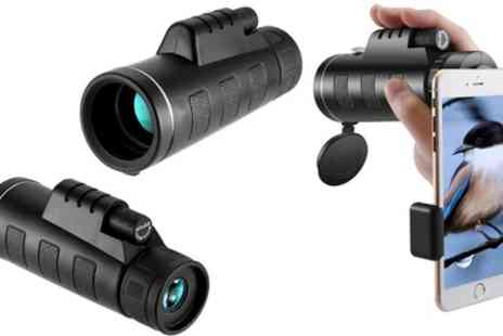 Groupon Goods Global GmbH - One or Two Long Range Monocular Telescopes with Accessories - Save 81%