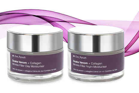 Dr Ever Youth - Age Revolution snake venom day and night cream set - Save 82%