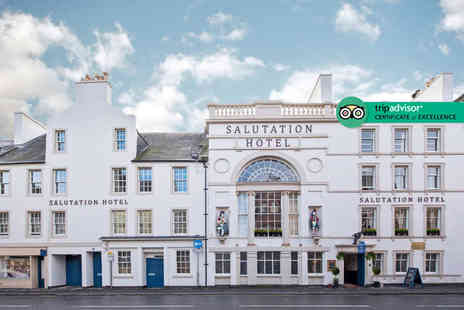 The Salutation Hotel - Overnight Perth stay for two with breakfast, glass of Prosecco, three course dinner, tea and biscuits - Save 59%