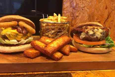 Dawsons Corner - Burger with Fries or Pizza with Bottomless Drink for Up to Four - Save 40%