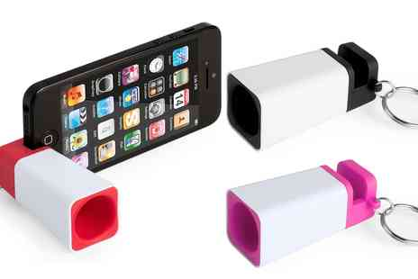 Groupon Goods Global GmbH - One, Two or Three Key Ring Smartphone Loudspeakers in Choice of Colour - Save 61%