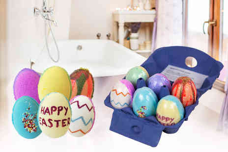 Bathtime Boutique - Pack of 6 Easter egg bath bombs - Save 60%